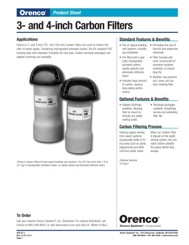 3- and 4-inch Carbon Filters