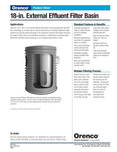 External Effluent Filter Basin