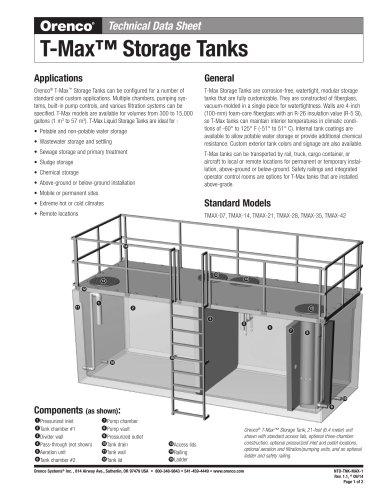 T-Max Storage Tanks