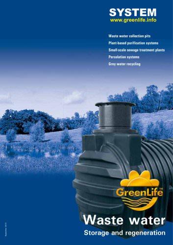 Catalog Wastewater storage and regeneration System