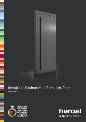 heroal Les Couleurs® Le Corbusier Front Door
