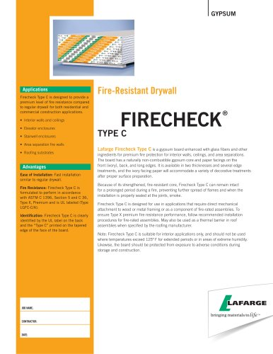 Fire-Resistant Drywall