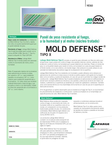 MOLD DEFENSE