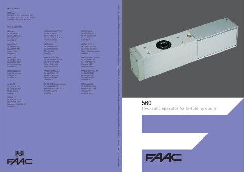 560 bi-folding door operator