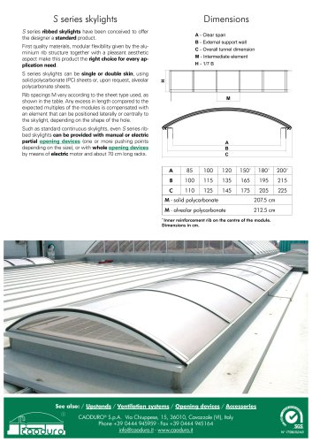 S series skylights