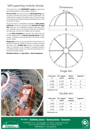 Self-supporting modular domes