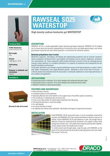 RAWSEAL SQ25 WATERSTOP