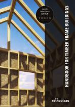 HANDBOOK FOR TIMBER FRAME BUILDINGS