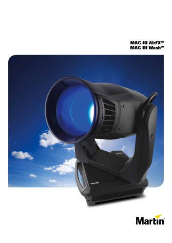 MAC III AirFX & MAC III Wash, brochure