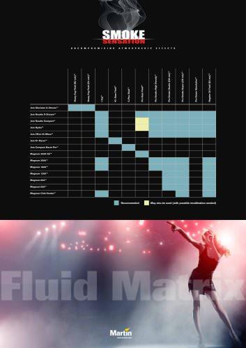 Smoke sensation, fluid matrix poster