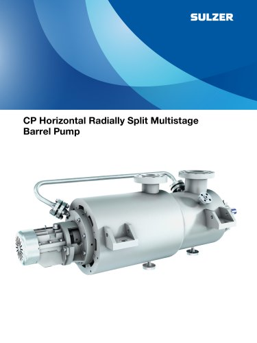 CP Horizontal Double Casing Radially Split Multistage Pump
