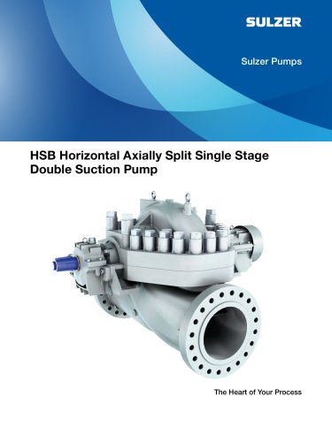 HSB Horizontal Axially Split Single Stage Double Suction Pump Brochures