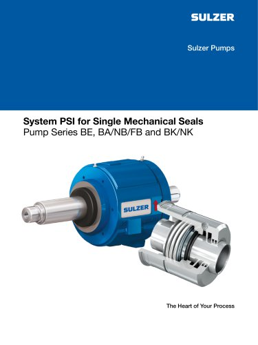 System PSI for Single Mechanical Seals