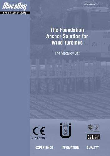 Wind Turbine Anchor Solutions