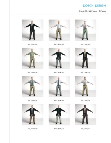 3D People - T -Poses