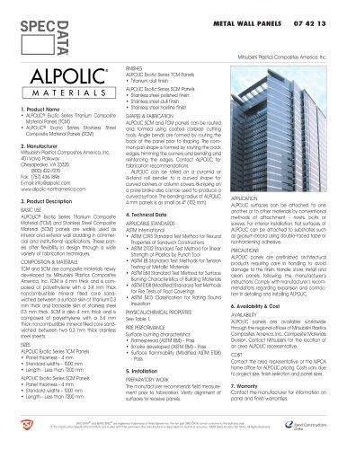 ALPOLIC® Exotic Metals Series, Stainless & Titanium Composite Materials
