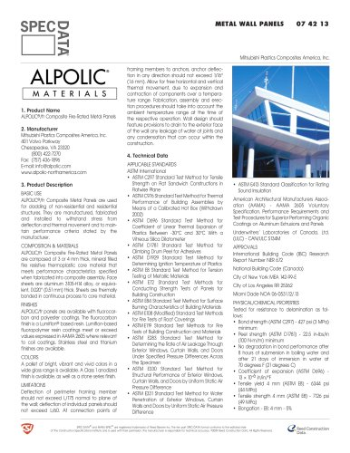 ALPOLIC® /fr Composite Fire-Rated Panels