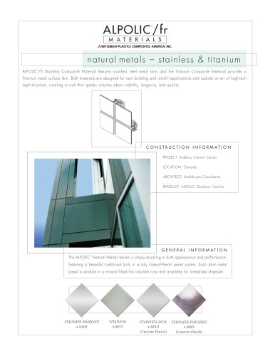 Natural Metals Stainless Steel and Titanium