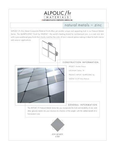 Natural Metals Zinc