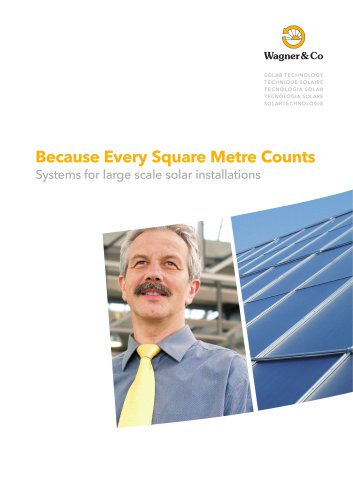 Systems for large scale solar installations