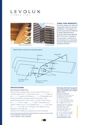 Levolux Timber Fins Brochure