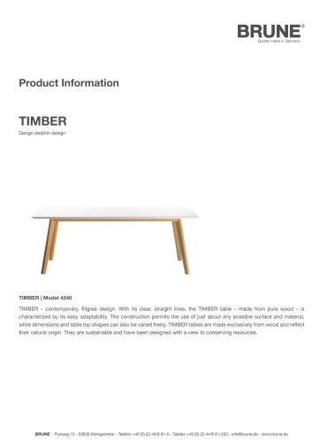 TIMBER Model 4240