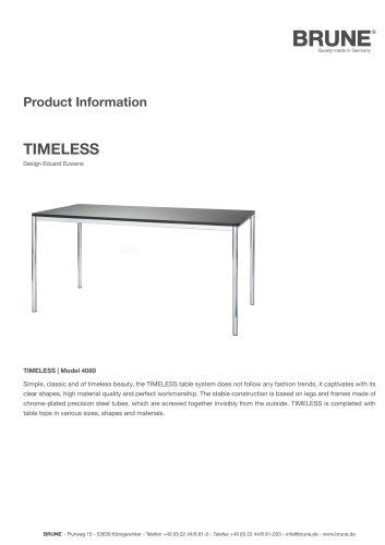 TIMELESS Model 4080