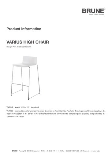 VARIUS High Chair