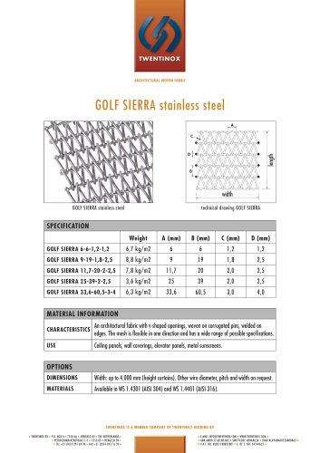 GOLF SIERRA stainless steel