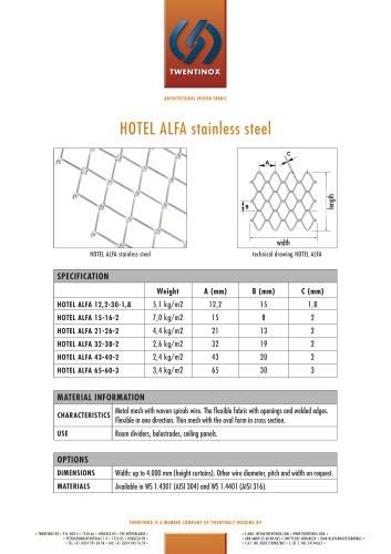 HOTEL ALFA stainless steel