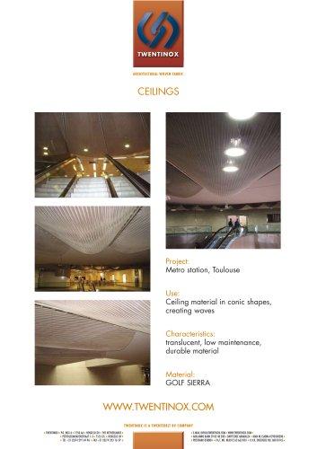 Twentinox metal ceilings