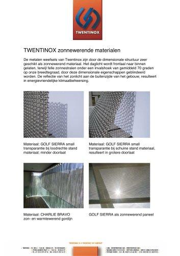 Twentinox metal solar solutions