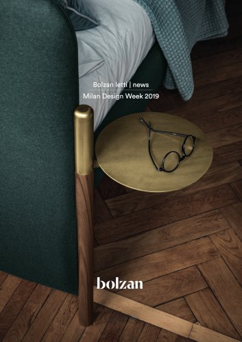 Bolzan letti | news Milan Design Week 2019
