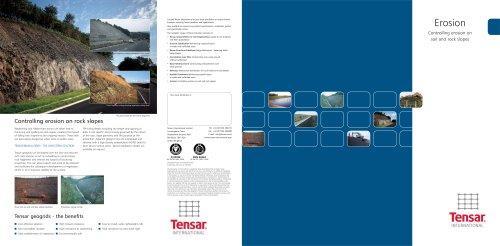 Tensar Erosion Brochure