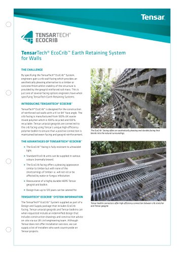 TensarTech EcoCrib Earth Retaining System For Walls - See more at: http://www.tensar.co.uk/Downloads?currentPage=2&subPath=Brochures&languageFilter=English&typeFilter=Tensar+Marketing+Brochure+(EMEA)#sthash.uhuSdXcr.dpuf