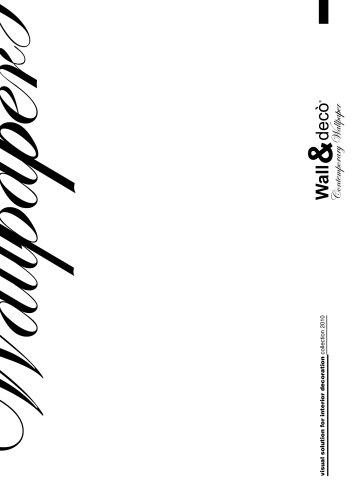 Wall & Decò 2010 Catalog