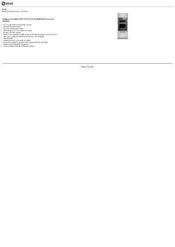Ascot Modular System, Inox, Chrome