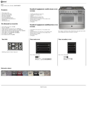 Ascot Range Cookers, Inox, Chrome , A12FF-6M/FF