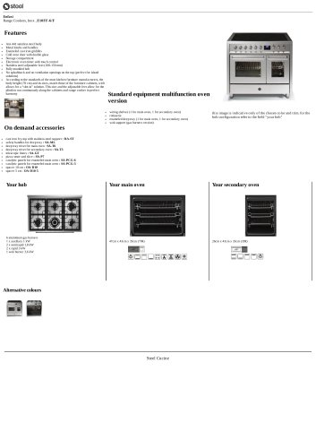 Enfasi Range Cookers, Inox , E10FF-6/F