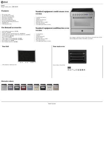 Genesi Range Cookers, Inox , G9F-5FI/F
