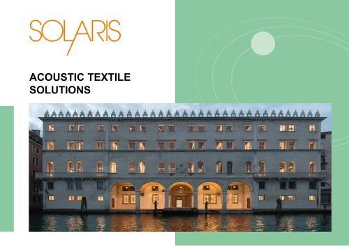 Acoustic textiles solutions Blinds and panels