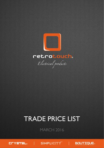 Retrotouch Trade Price list