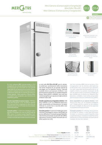 O12-O14 Mini-Cámaras (Conservación y Congelación)