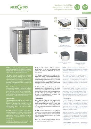 V1-V2/V3/V7 Refrigerador de Bebidas