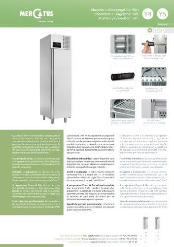 Y4/Y5 Abatidor y Congelador Slim