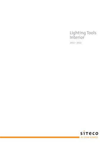 Lighting Tools Interior 2011/2012