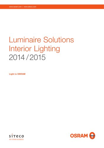 Luminaire Solutions Interior Lighting 2014 / 2015