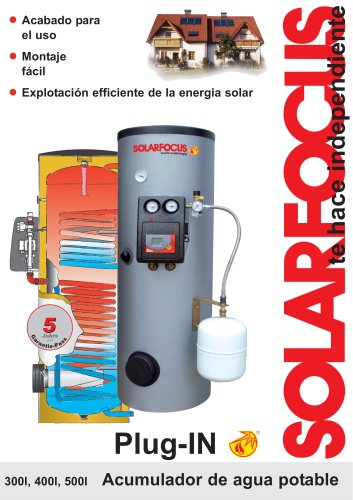 Acumulador de agua potable: Plug-IN