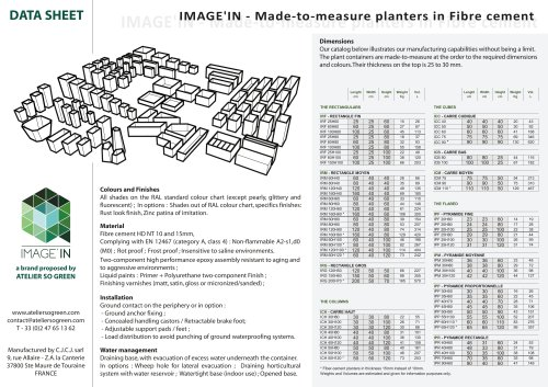 IMAGE'IN - Data Sheet