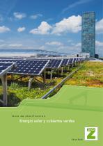Energía solar y cubiertas ecológicas ajardinadas